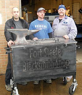 College welders help out Fort Steele